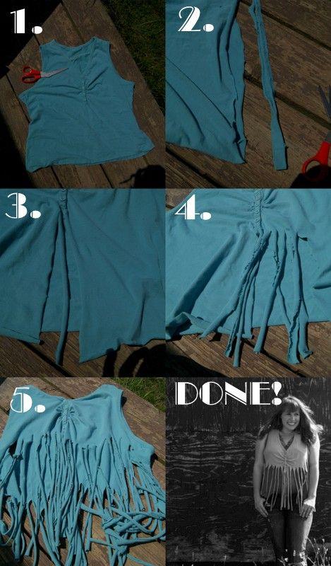 Make your own fringe vest!