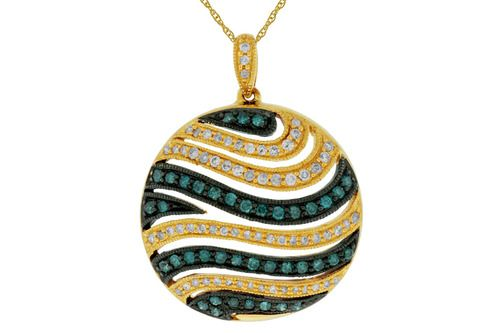 *~ #Fantastic!! -- #Blue #Diamond #Pendant #Necklace~ *