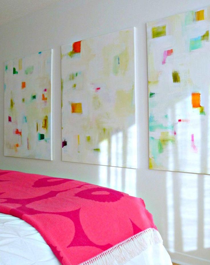 Love these abstract paintings! Eindruck einer heiteren Stimmung