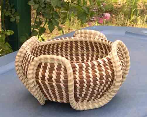 Elephant Ear Sweet Grass Basket
