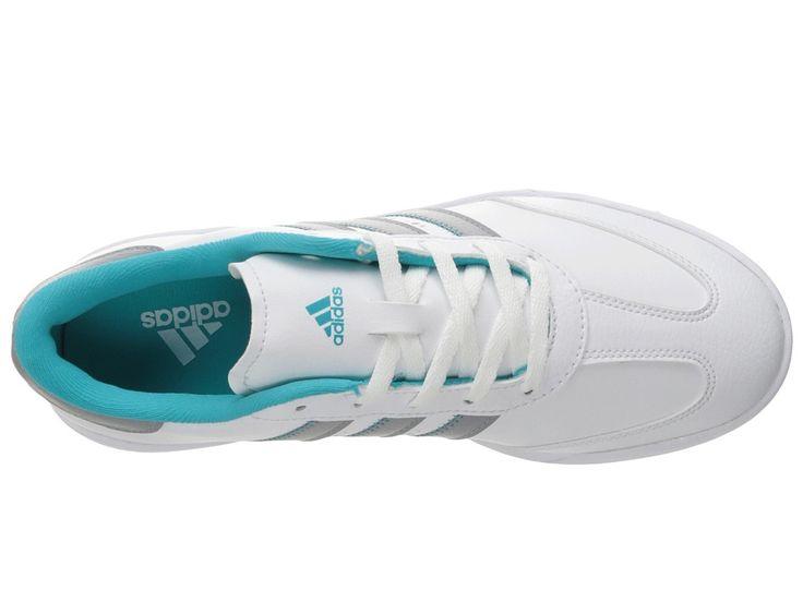 adidas Golf Jr. Adicross V (Little Kid/Big Kid) Men's Golf Shoes Ftwr White/Mid Grey/Energy Blue