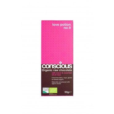 Conscious Love Potion 50g organic raw vegan chocolate bar
