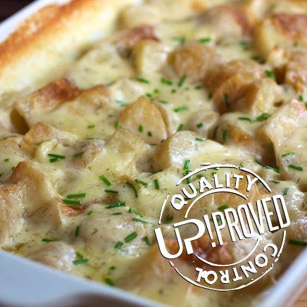 La ricetta di UP!  Gratin Rosalina (di patate, formaggi Gouda e mascarpone)