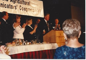 President Bill Clinton spoke to the Agricultural Communicator's Summit in 1996.