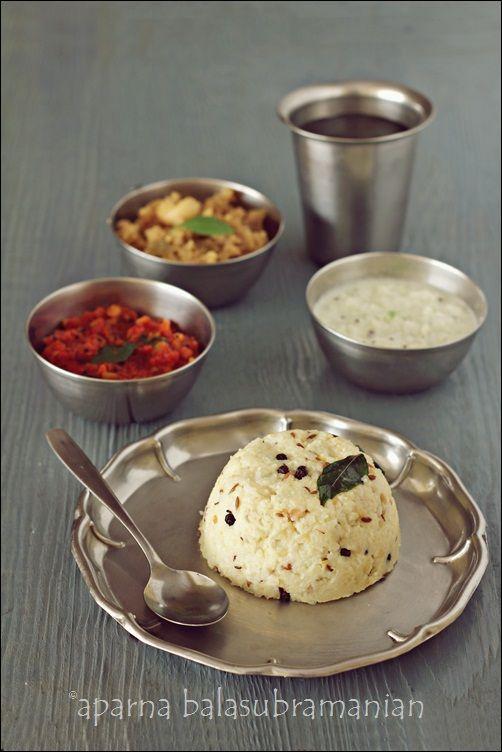 My Diverse Kitchen: Venn Pongal (South Indian Rice & Split Lentil Risotto) With A Simple Coconut Chutney & Tomato Gojju/ Ghotsu for Makara Sankrathi/ Thai Pongal