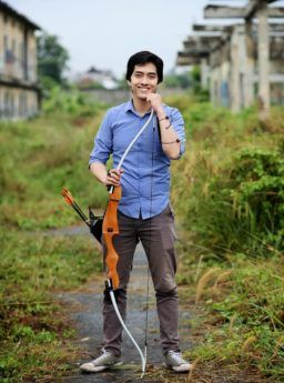 60 Wooden Recurve Bow Rucika+Fiber / Busur Panah / Archery