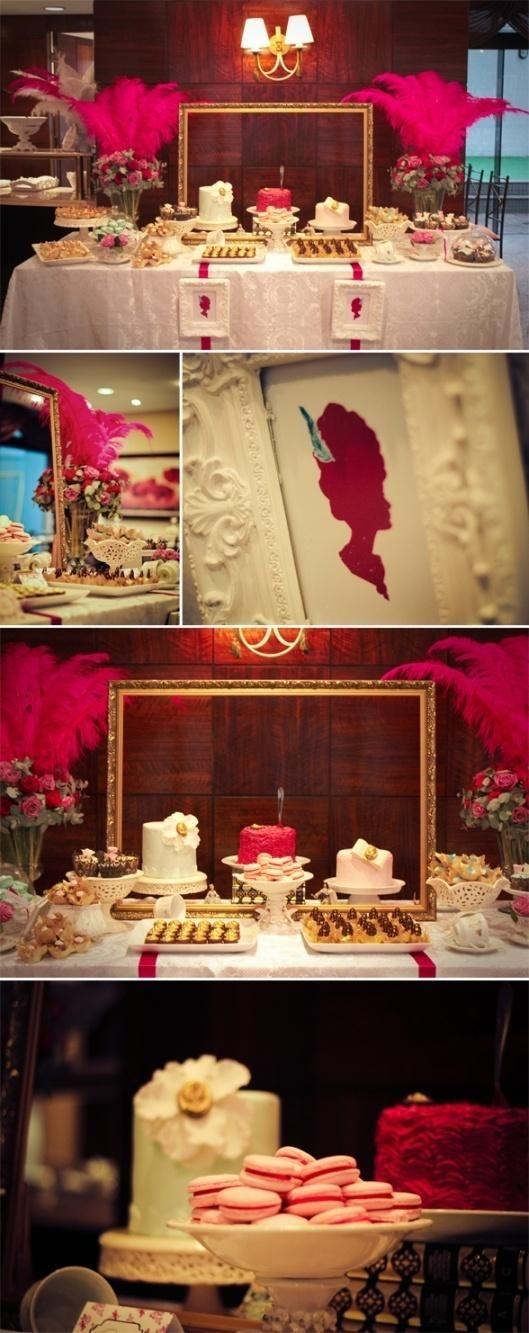 Glamorous Marie Antoinette Masquerade Ball - dessert table