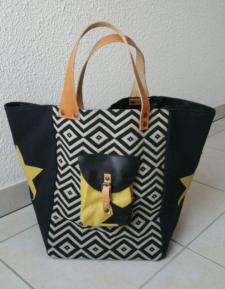 sac cabas style pomponette : Sacs à main par les-cabas-de-chef-didine87