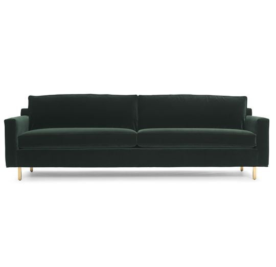 HUNTER SOFA Mitchell Gold- Classic looking. Can do wood legs- love a soft darker fabric in solid.