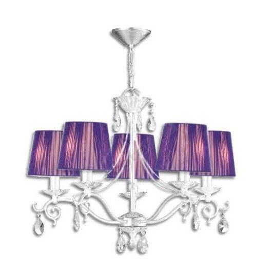 lmpara moderna color blanco pantallas color lila with lampara moderna techo