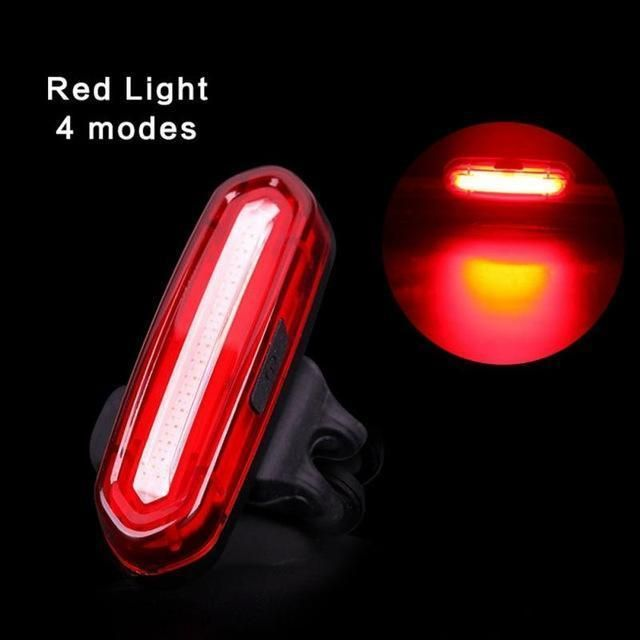 6 Modes COB LED Bicycle Bike Cycling Rear Tail Warning Light USB Rechargeable