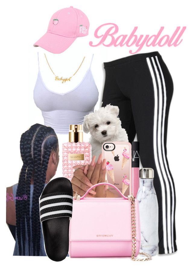 """Bubblicious"" by melaninprincess-16 ❤ liked on Polyvore featuring adidas, Casetify, Valentino, Sessions, NARS Cosmetics, S'well and Givenchy"
