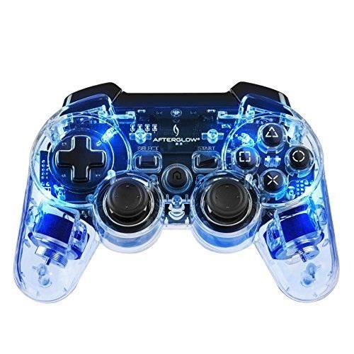 gnial manette afterglow sans fil pour ps3 bleu chez fnac plus de jeux ici http - Manette Ps3 Color