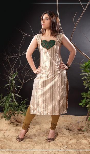 Beige Shimmer Designer Indian Salwar Kameez