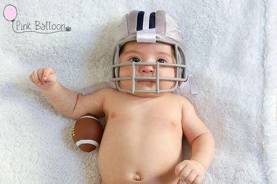 Increíbles ideas para sesión de #fotos de #bebés. #Photography #Baby #Babyphotography #football