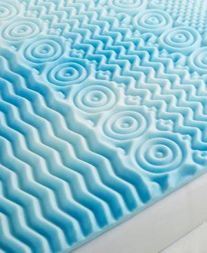 "Closeout! Authentic Comfort Comfort Rx 5-Zone 2"" California King Foam Mattress Topper - Blue"