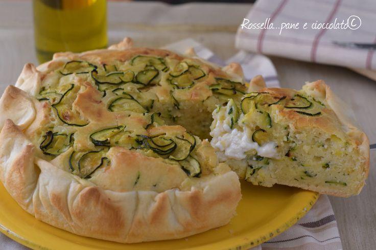 Torta+Salata+5+Minuti+alle+Zucchine