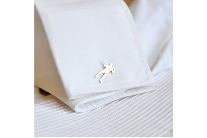 Cowboy Gilt Cufflink by SMITH Jewellery