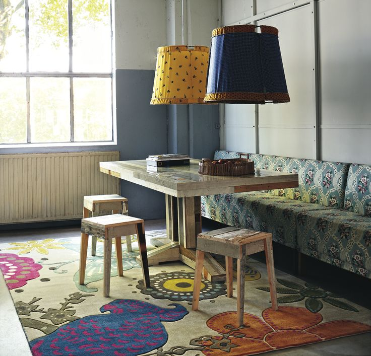 Xian Butterfly rug - Rug styling tips from Rodgers of York. #interiors