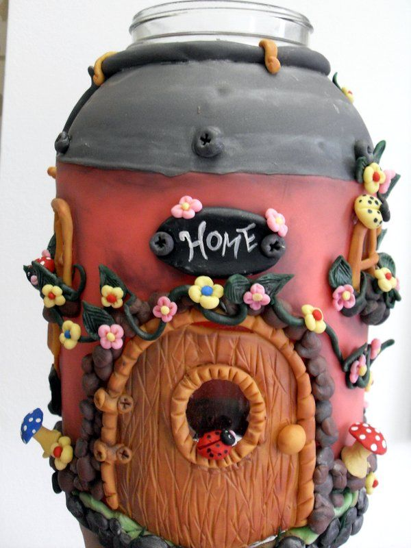 fairy house .. glass jar by Melissa Raloski