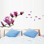 Florals Purple Magnolia  Wall Stickers – AUD $ 17.70
