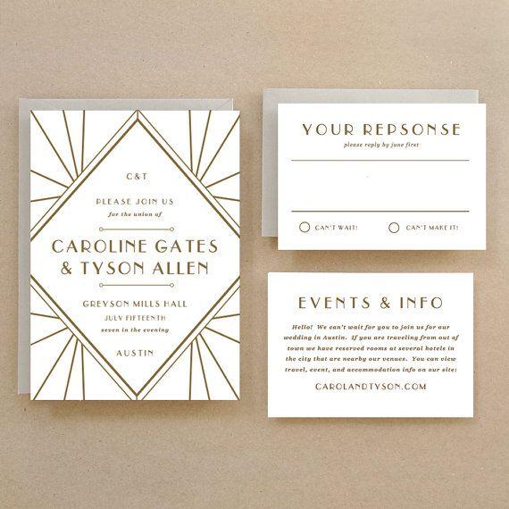 Instant Download Gastby DIY Printable Wedding by SwellAndGrand, $25.00