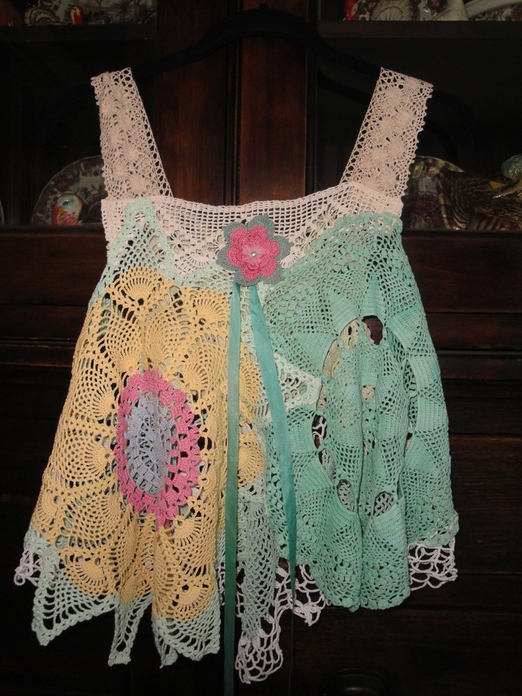 Luv Lucy Garden Star Crochet Top - bursts of lovely summer color!