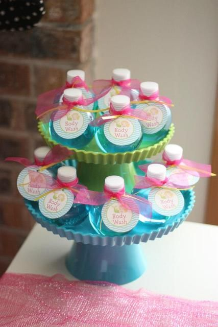 Body Wash for a Mermaid Party #favors #mermaidparty