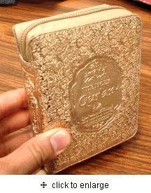 The Holy Qur'an : An English Interpretation with Full Arabic Text by Abdullah Yusuf Ali : Arabic & English (Gold Zipper Case)  <3