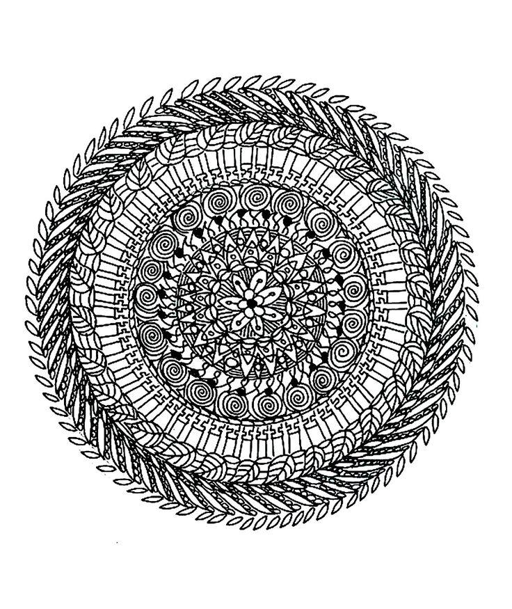 17 best images about all kinds of amazing art on pinterest zentangle patterns mandala - Mandala adulte ...