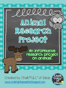 An informative research project on animals designed for implementation in the first grade classroom. It can be modified and used in kindergarten or second as well.  What's Included?: -Common Core Aligned page 3 -Letter to Parents page 4 (Explains research project) -Habitat Shoebox Worksheet page 5 -Appearance, Home, Food, Babies, Cool Facts, Informational Sheets pages 6-10 -Bubble Map page 11 -Words to Sentences page 12 -Research Paper Cover page 13 -Writing Paper pages 14-16  My students…