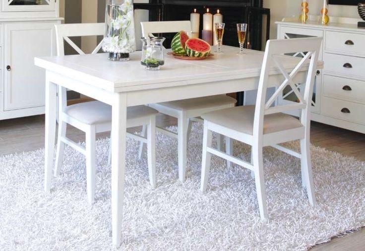 Mesa de comedor extensible eneko white muebles - Mesas coloniales comedor ...