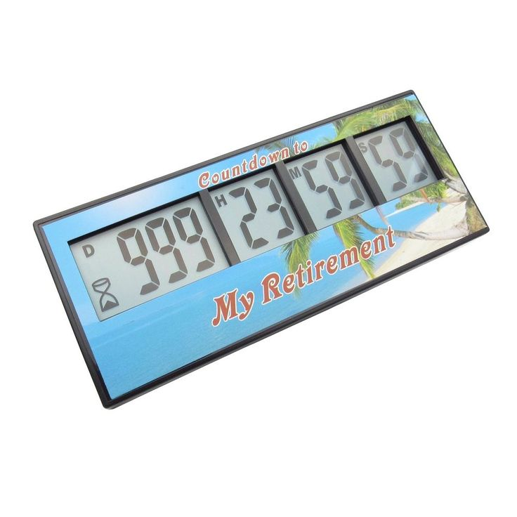 Digital Retirement Countdown Timer Clock Alarm High Quality Free Shipping New  #AIMILAR