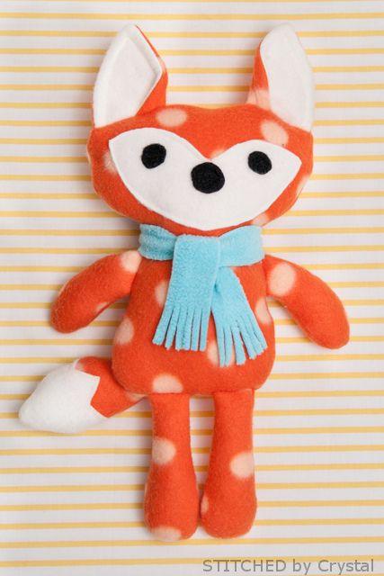 DIY Stuffed fox by stitchedbycrystal, via Flickr