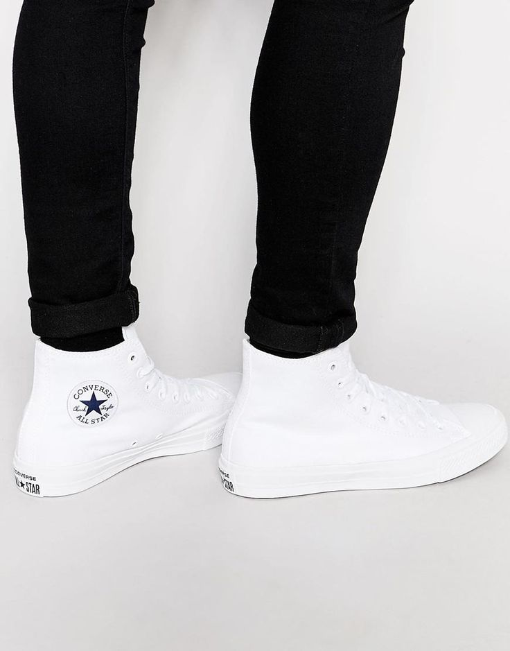 Converse | Converse Chuck Taylor All Star II Plimsolls In White 150148C at ASOS