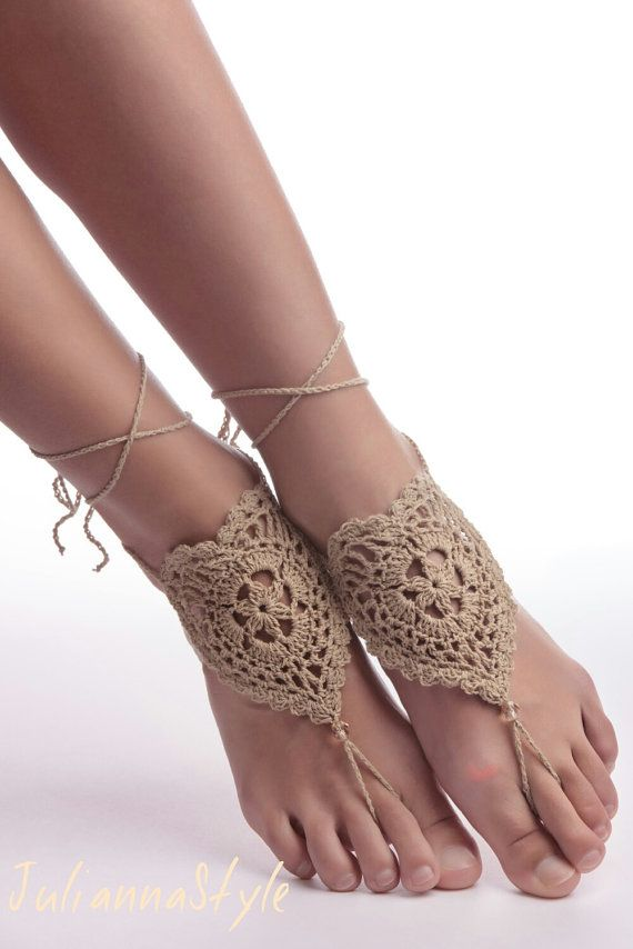 Hey, I found this really awesome Etsy listing at https://www.etsy.com/ru/listing/223359965/crochet-barefoot-sandals-foot-jewelry