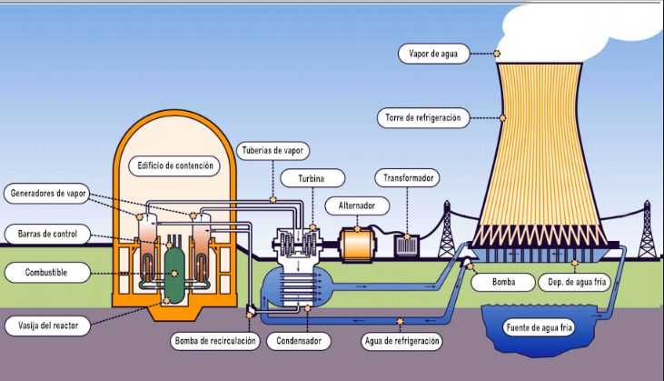 Componentes de una planta nuclear