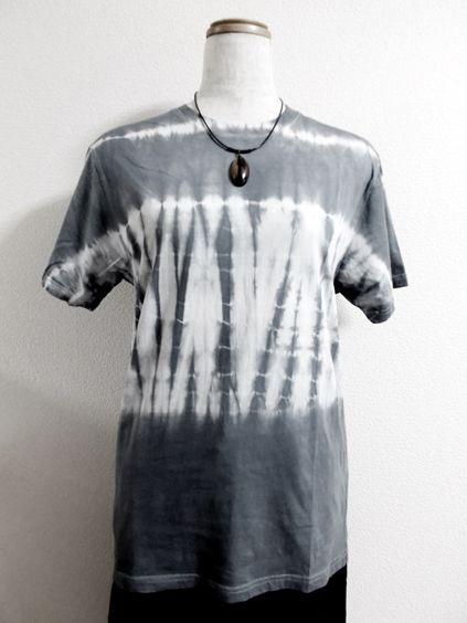Tシャツ(横段模様絞り染)画像1