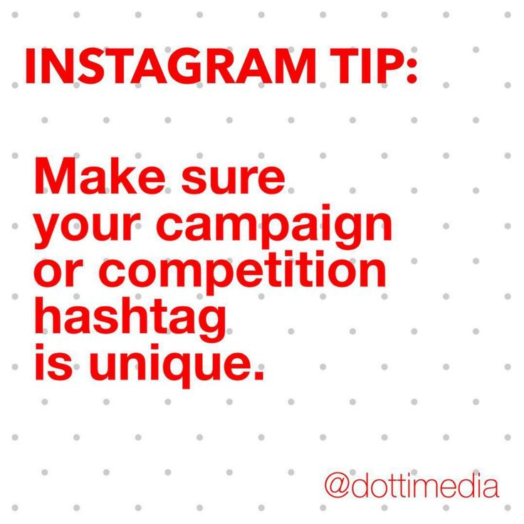 #GetInstaSavvy Tip: Now it may seem obvious but we see accounts, including the BIG ones, that don't choose a unique hashtag for their competition or campaign. The problem? All of the entries or posts aren't easily seen and you end up wondering what is an entry or what's not.  Do yourself & your fans a favour and DOUBLE CHECK before you commit to a specific hashtag!
