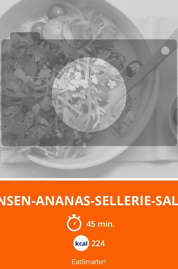 Linsen-Ananas-Sellerie-Salat - smarter - Kalorien: 224 Kcal - Zeit: 45 Min. | eatsmarter.de