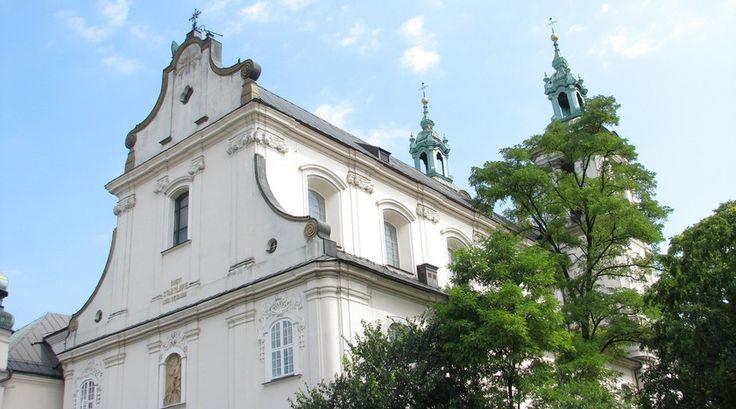 Barok kerk in Krakau. Mooi!