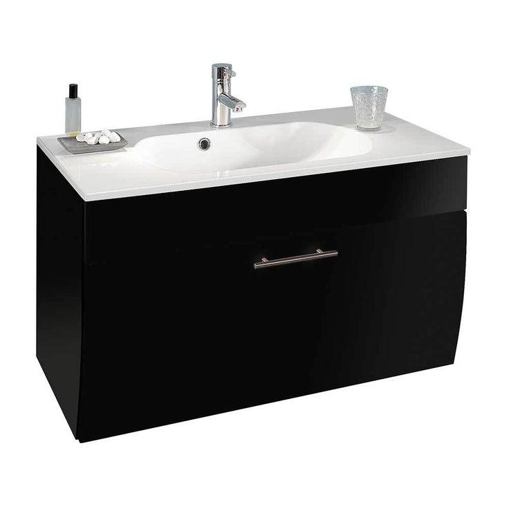 Waschtischunterschrank In Anthrazit Hochglanz 90 Cm Jetzt Bestellen Unter:  Https://moebel.ladendirekt.de/bad/badmoebel/badmoebel Sets/?uidu003d70e9a428 9bfb   ...