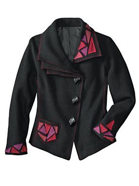 Women's Artsy Deco Boiled Wool Jacket | Norm Thompson