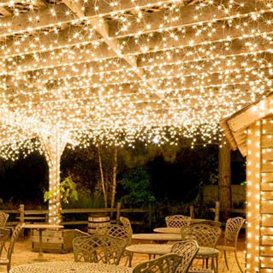 No electricity, cords or outlets needed! These festive arbor lights make your garden glow. Don't just use them on your arbor; they go anywhere you can imagine: arbor, trellis, tree, deck or patio. Put them wherever you want to add easy and elegant accent lighting to your yard, garden or home. Solar panel mounts with clamp or stakes in ground. White LED lights run 6-8 hours at night on a full daytime charge. 100 has two strands with 50 lights each; 200 has two strands with 100 lights each…