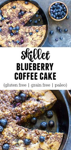 It's a moist, delicious cake layered with a nut/cinnamon streusel and fresh, juicy blueberries. It's super simple to throw together. And is gluten free, grain free, and paleo.