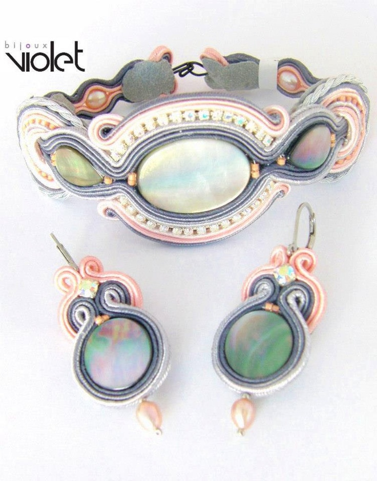 Shelly soutache bracelet  earrings