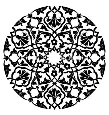 Black oriental ottoman design twenty four on VectorStock