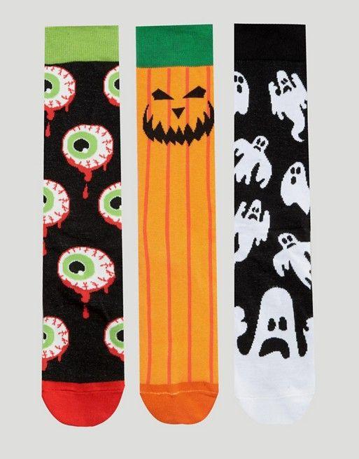ASOS   ASOS Halloween Socks 3 Pack