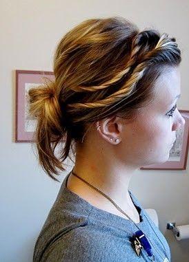 Casual Updos for Medium Length Hair7  - Beauty Ideaz