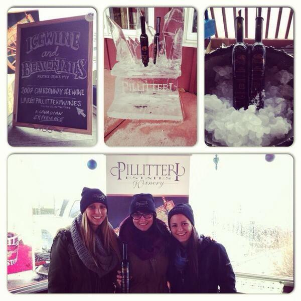 The Beavertail and Chardonnay ladies #IcewineFest #WeAreWinter